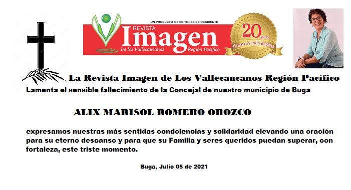 Luto en Concejo de Buga, fallece la edil Alix Marisol Romero Orozco 51