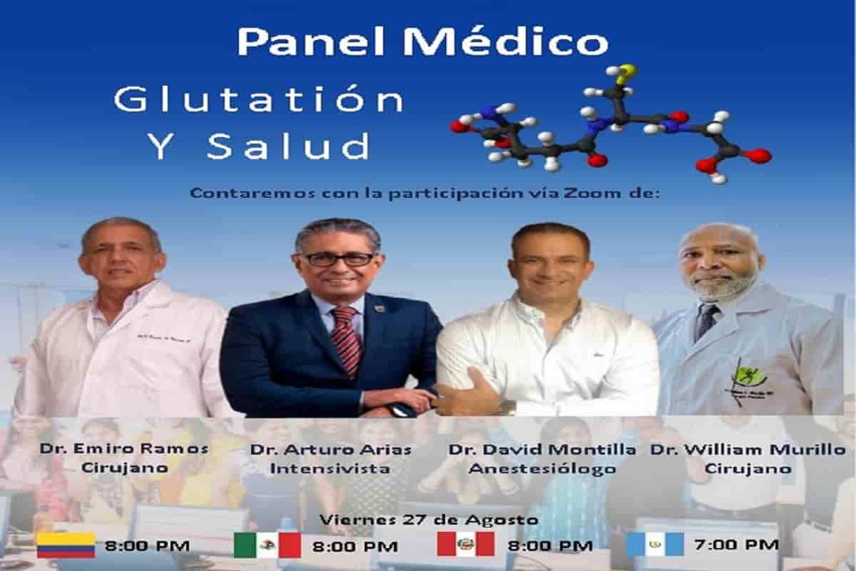 Glutatión y, como aumentar la calidad de vida. Panel Médico 39
